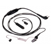 Kenwood KHS-9BL 3-Wire Lapel Microphone with Earphone