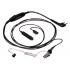Kenwood KHS-9BL 3-Wire Lapel Mic with Earphone (KA)