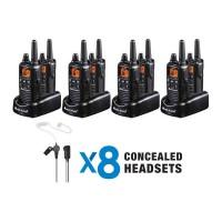Midland LXT600BB 2 Watt FRS Radio - 8 Pack