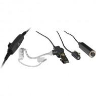 OTTO V1-10284 3-Wire Mini Lapel Surveillance Kit | Motorola (MG)