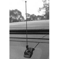 PCTEL AP153 Glass Mount Antenna | 150-174 MHz 1/2 Wave 17ft with PL259